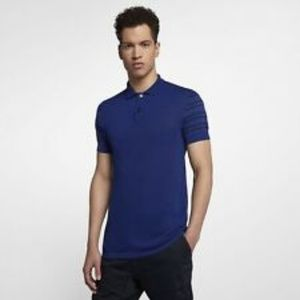 Nike Mens Golf Polo Shirt Made In Italy Blue AQ068
